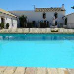 piscina azul